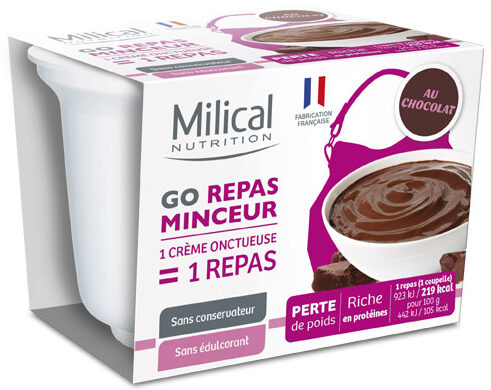 Milical Go - Coupelle repas chocolat - Product