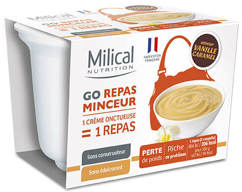 Milical Go - Coupelle repas vanille caramel - Product