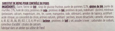 Barre Pomme Myrtille avec arôme naturel - Ingrédients - fr