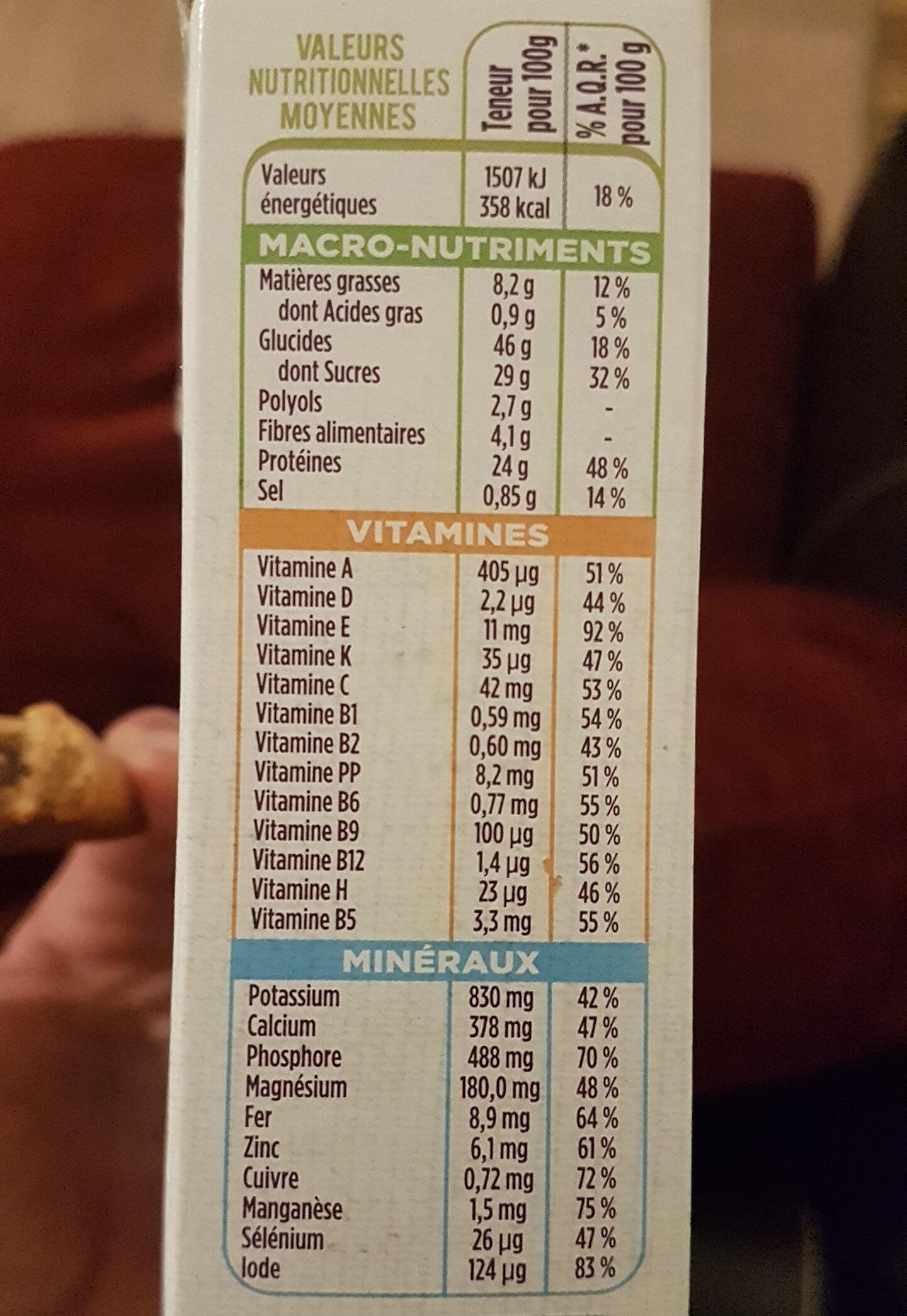 Barre Pomme Myrtille avec arôme naturel - Nutrition facts - fr