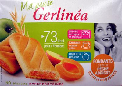 Biscuits fondants saveur pêche abricot Gerlinéa - 产品