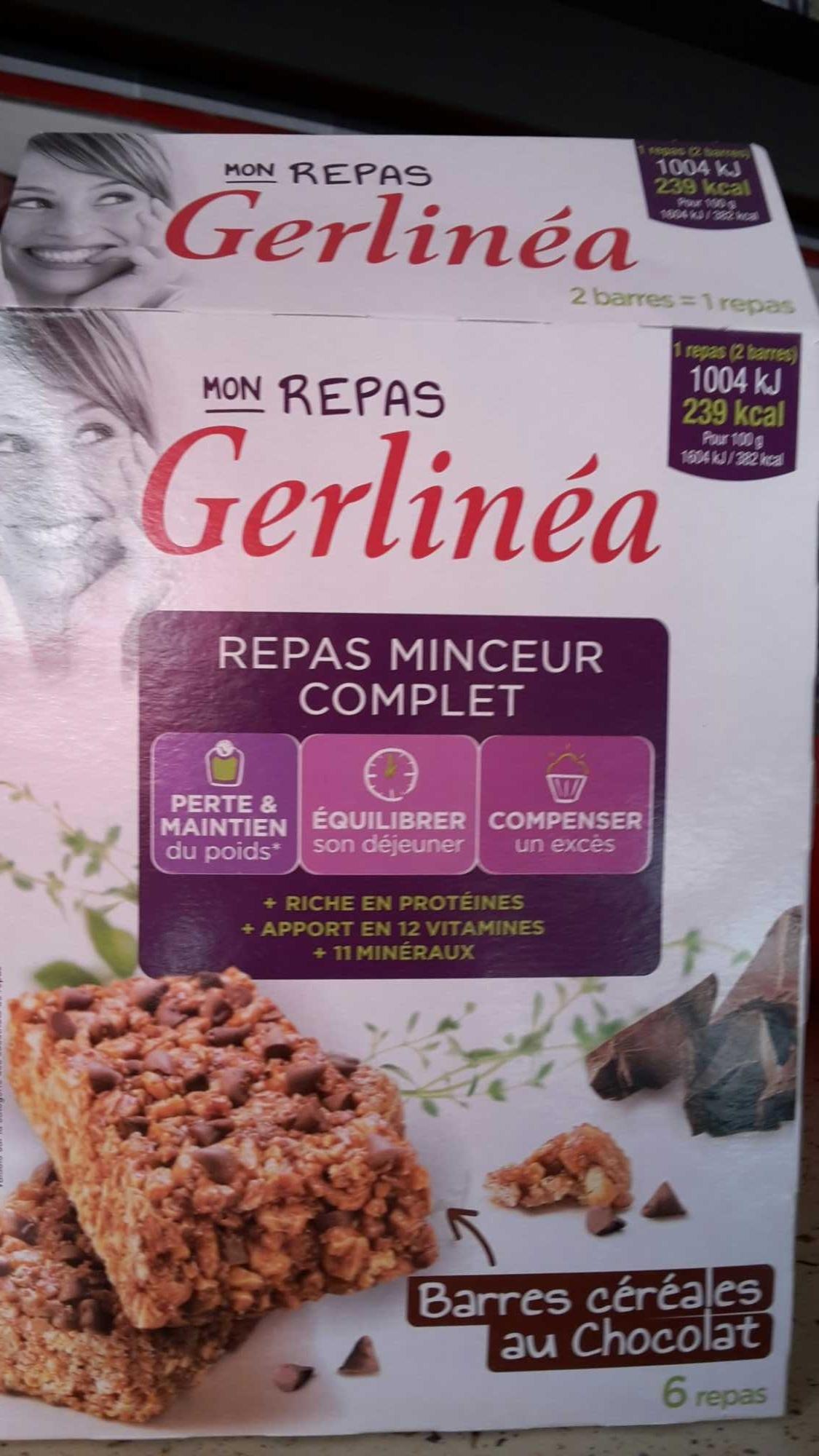Mon repas Minceur Barre aux Céréales aux pépites de Chocolat - Product - fr