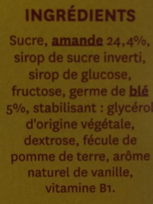 Barre Amande - Ingrediënten
