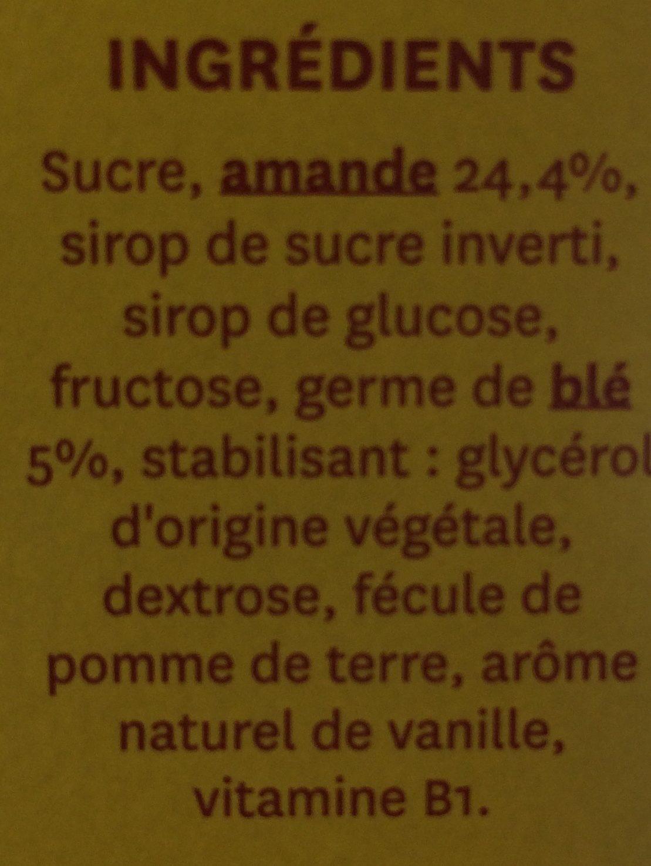 Barre amande Gerblé - Ingrédients - fr