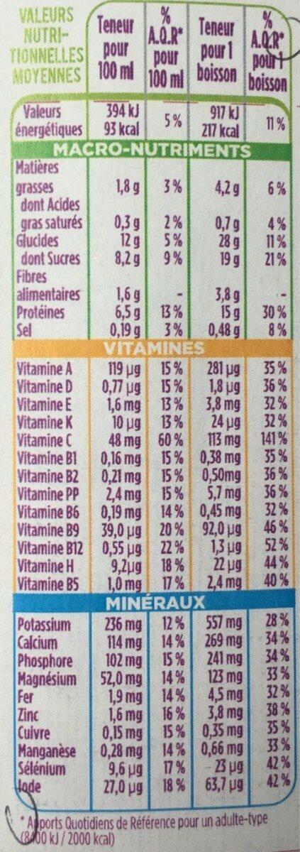 Mon Repas Minceur Boisson saveur Vanille - Voedingswaarden - fr