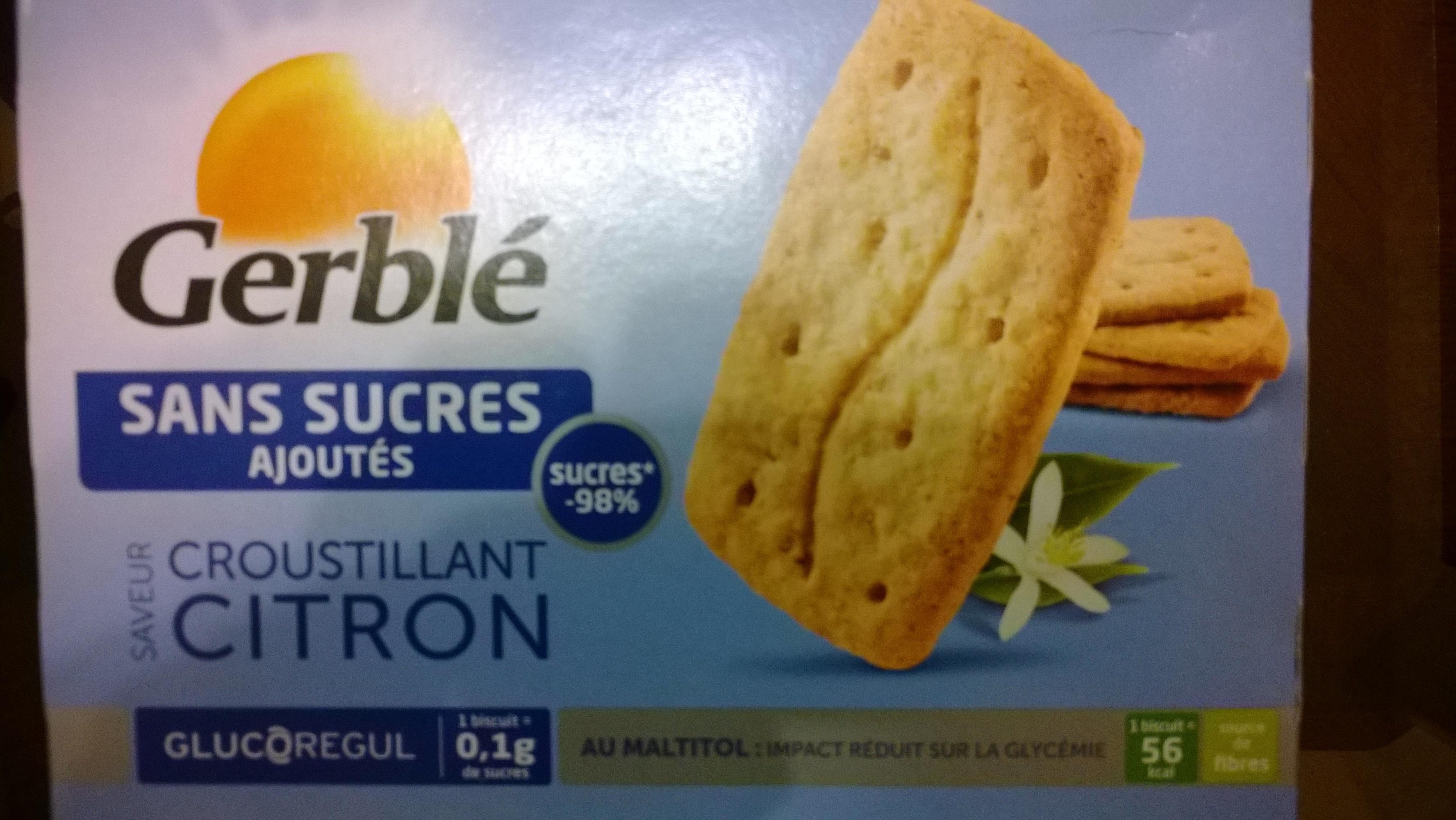 Gerblé croustillant citron - Produit - fr