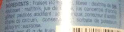 Fraise à tartiner sans sucres ajoutés - Ingrediënten - fr
