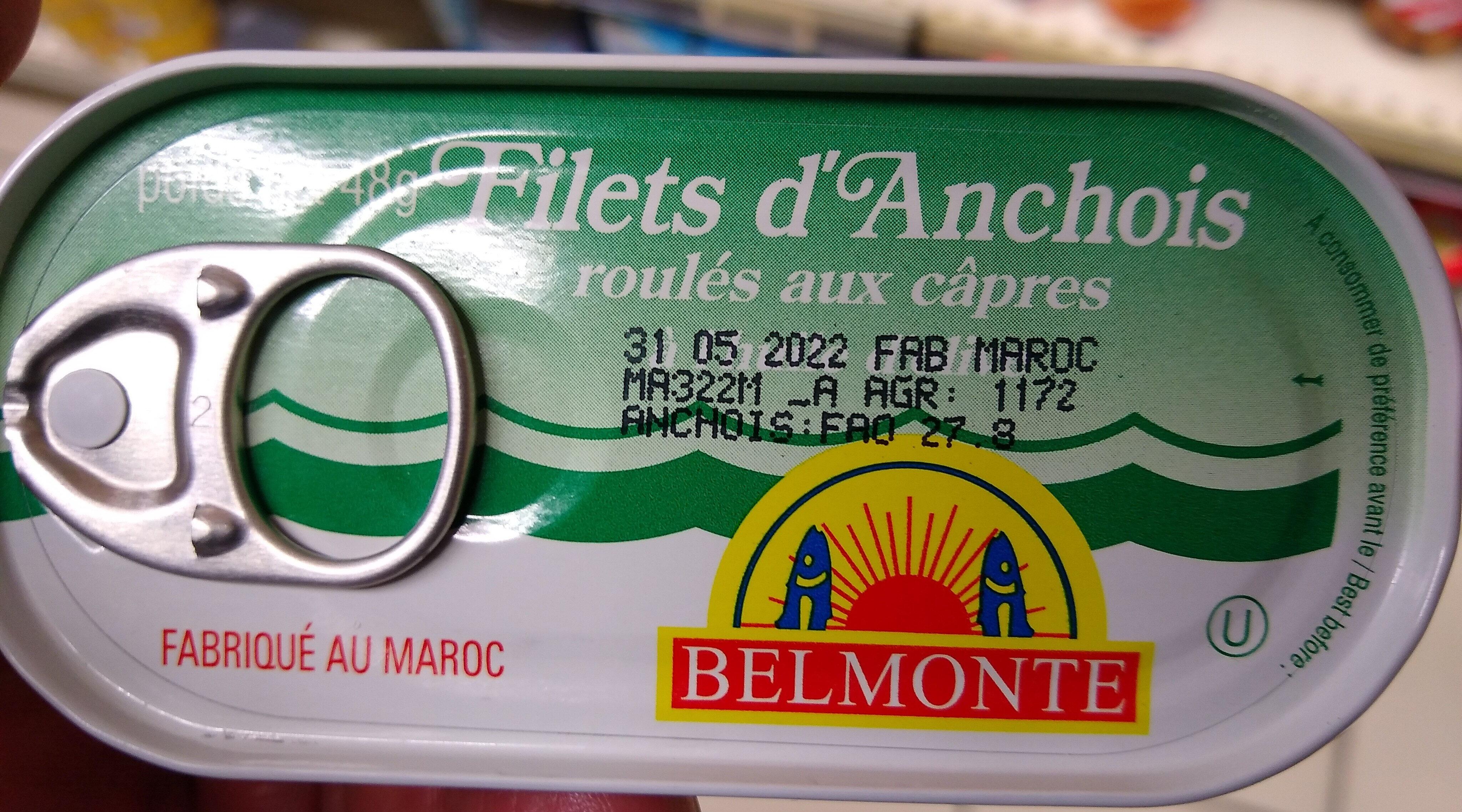 Filets d'anchois roulés aux câpres à l'huile d'olive - Produit - fr