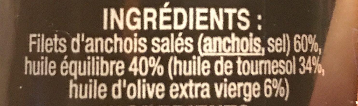 Filets d anchois - Ingrédients - fr