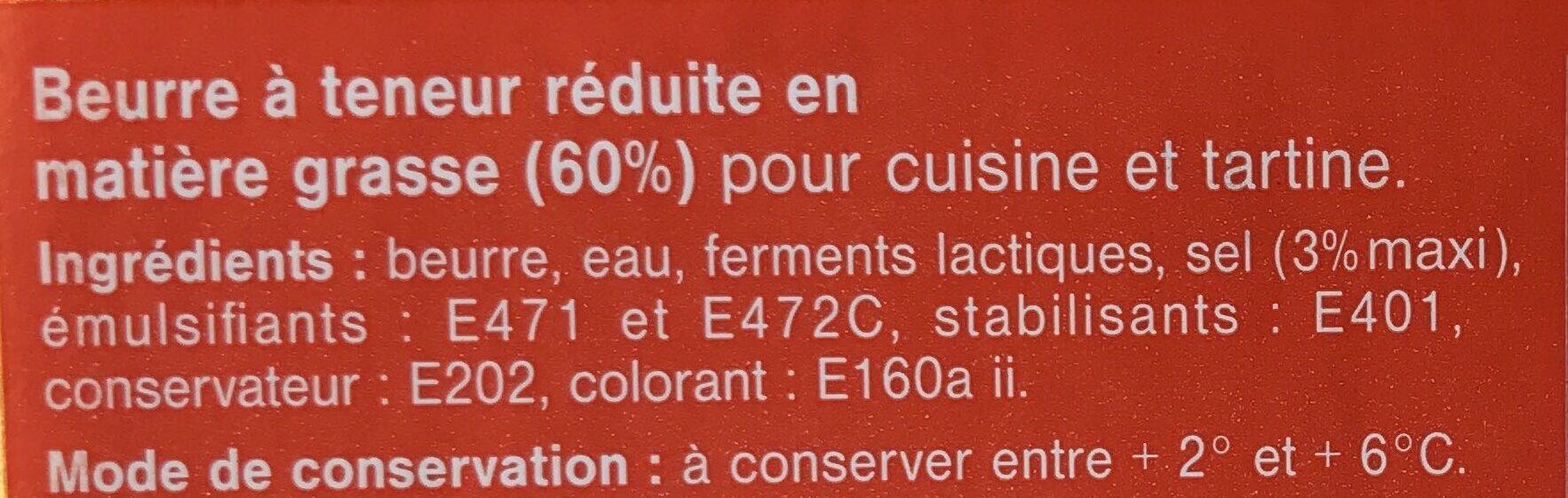 Cuisine et Tartine Demi-Sel - Ingrédients - fr