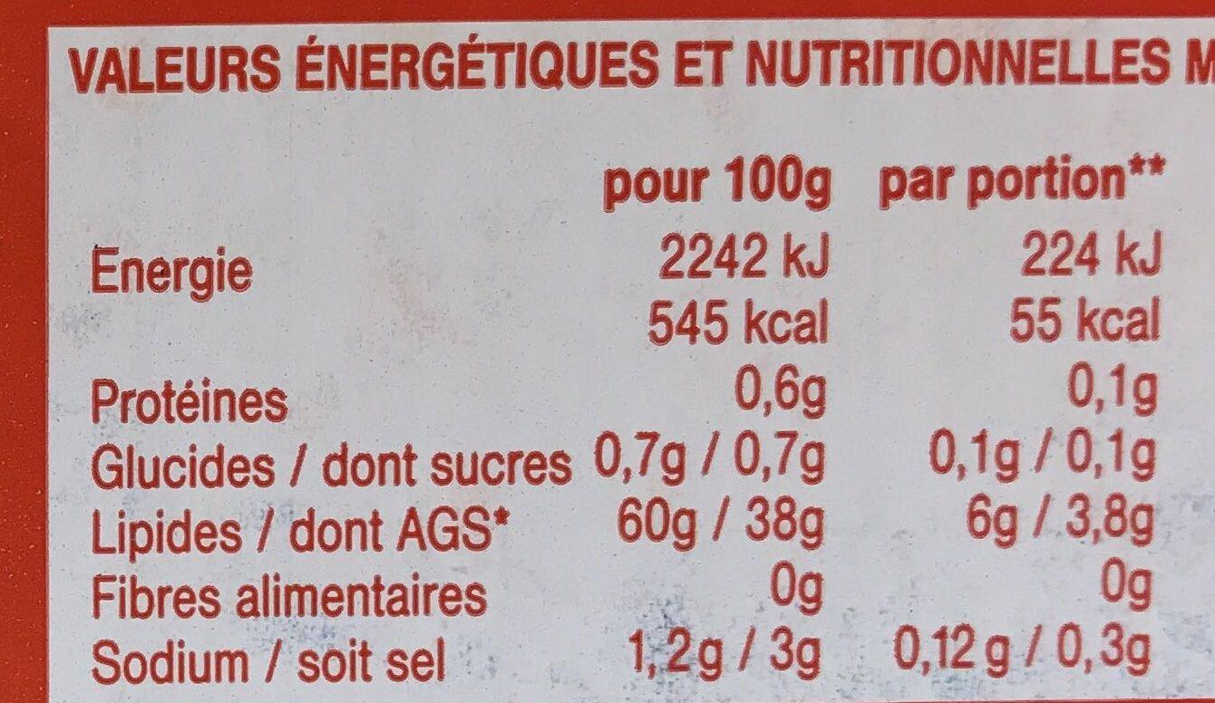 Cuisine et Tartine Demi-Sel - Informations nutritionnelles - fr
