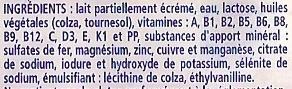 Candia Croissance 10 mois à 3 ans - Ingrediënten - fr