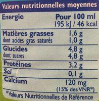 GrandLait Demi-écrémé - Nutrition facts