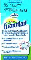 GrandLait Demi-écrémé - Ingrédients