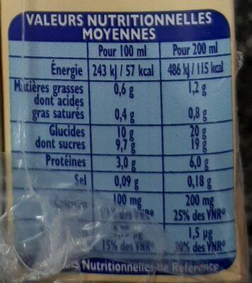 Candy'Up goût Vanille - Informations nutritionnelles - fr