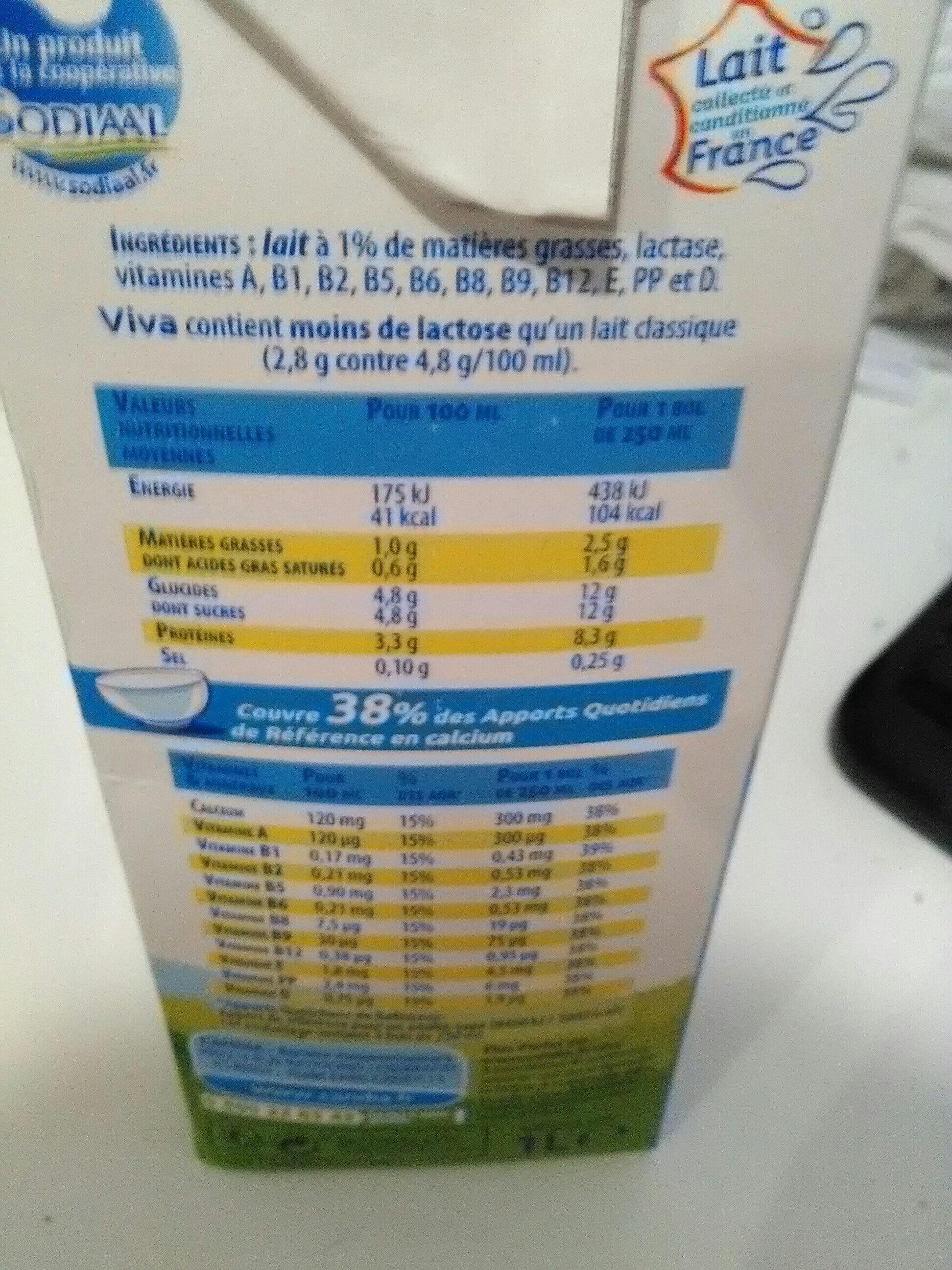 Lait Viva® - Ingrédients - fr