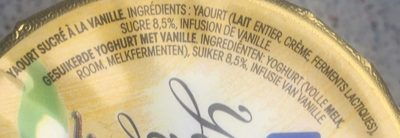 Yaourt à la vanille - Ingrediënten - fr