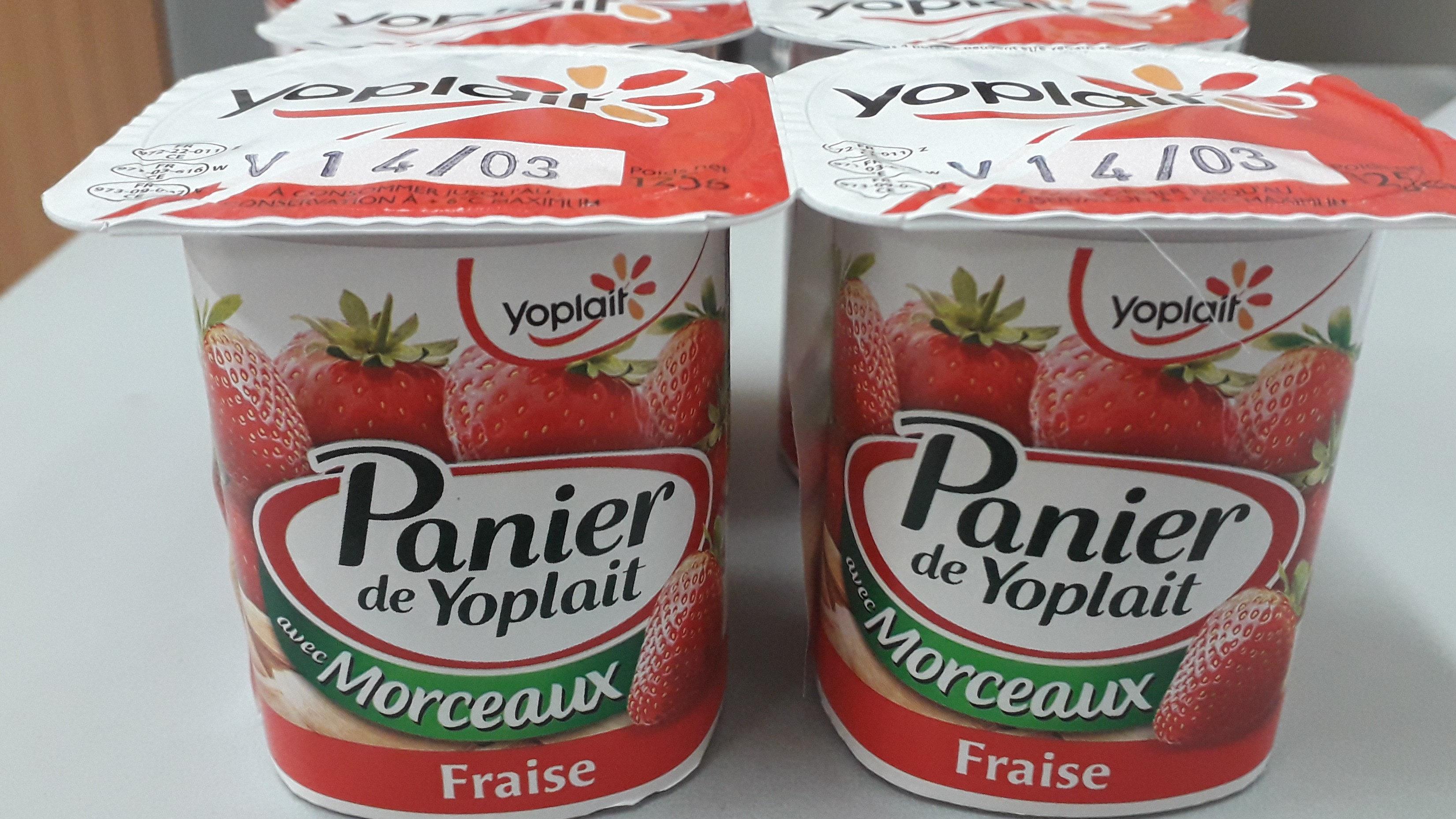 Panier de Yoplait avec Morceaux Fraise - Prodotto - fr