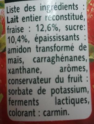 Panier de Yoplait avec Morceaux Fraise - Ingredienti - fr
