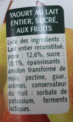Sélection de Poires - Ingredienti - fr