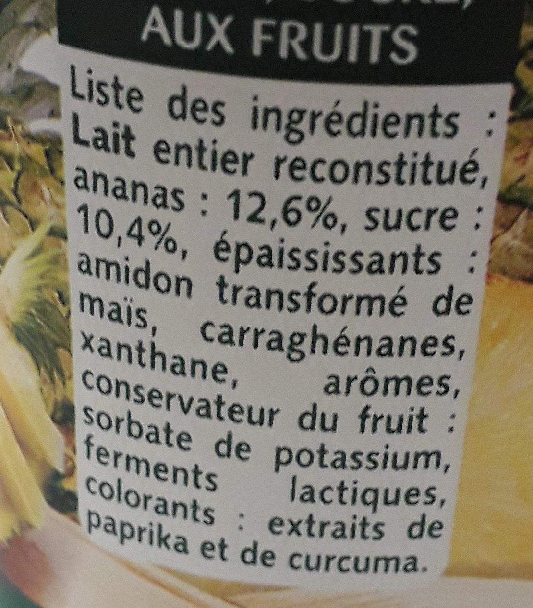 Panier d'Ananas - Ingredienti - fr