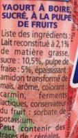 Yop Fraise - Ingredients - fr