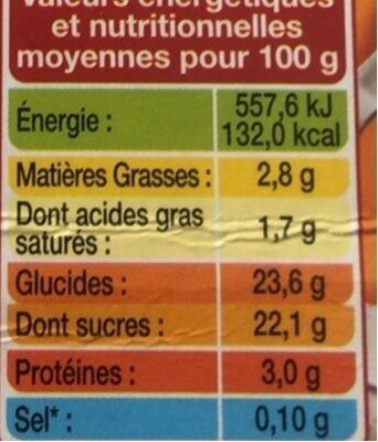 L'ile au caramel - Nutrition facts - fr
