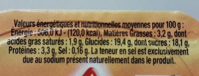 yopi vanille - Valori nutrizionali - fr