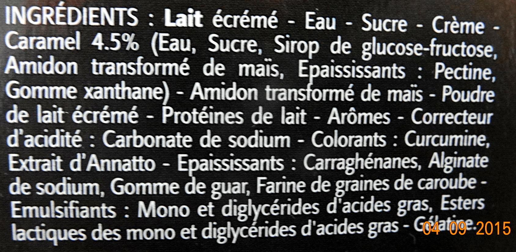 Ile Flottante Gourmande (6 Pots) - Ingrediënten