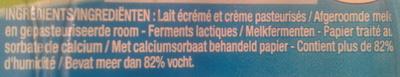 Petit Yoplait, (3,8 % MG) 6 fromages frais nature - Ingrediënten