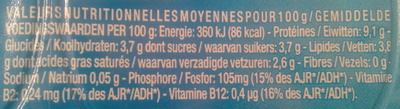 Petit Yoplait, (3,8 % MG) 6 fromages frais nature - Voedigswaarden