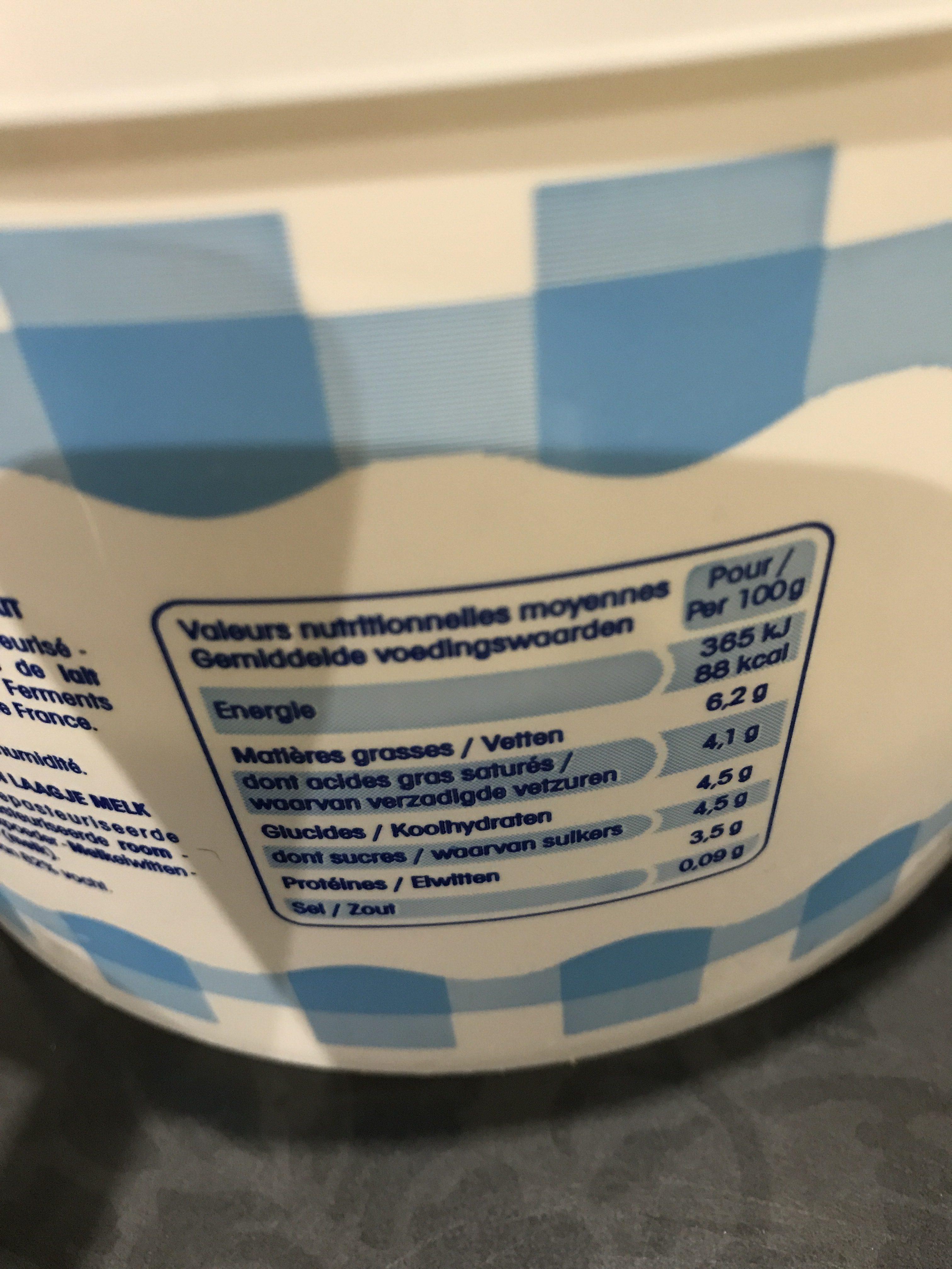 Fromage Blanc de Campagne au Lait des Alpes 6,2 % - Ingrediënten