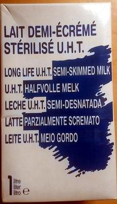Lait demi-écrémé stérilisé UHT - Produit - fr
