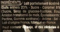 Crème Caramel 8 Portions 3,6 % - Ingrédients