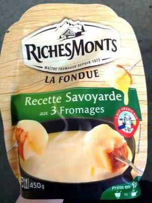 La Fondue Recette Savoyarde aux 3 Fromages - Product - fr