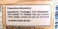 La Fondue Recette Savoyarde aux 3 Fromages - Ingredients - fr