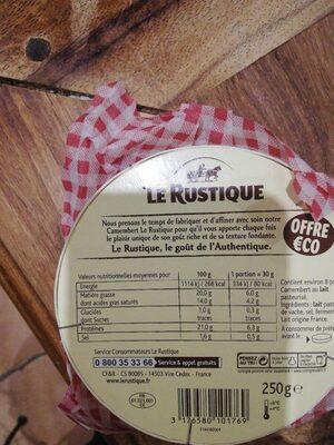 Le Rustique Camembert 250g Offre éco - Voedingswaarden - fr