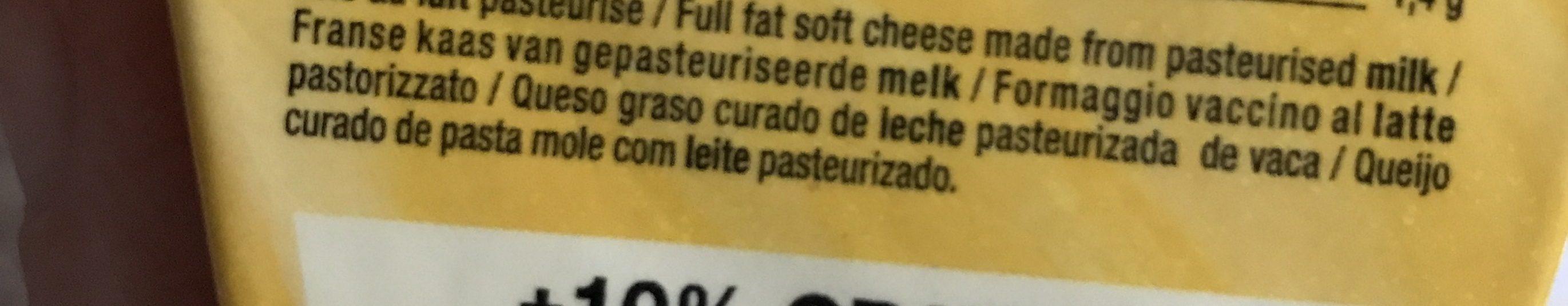Coeur De Lion Pointe De Brie 200g +10% Gratuit - Ingrediënten