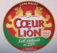 Camembert Sel Réduit de 25% - Produit