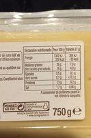Raclette sans croûte - Informations nutritionnelles - fr