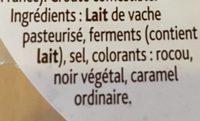 Tomme Fruitée (28 % MG) - Ingrédients