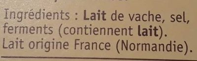 Coulommiers l'Extra-Crémeux - Ingrédients
