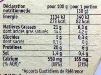 Camembert Grand Coeur - Nährwertangaben - fr