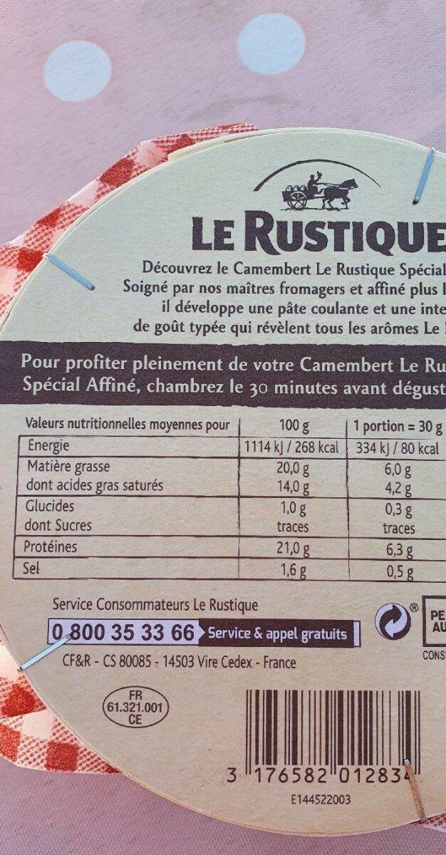 Camembert Spécial Affiné - Nutrition facts - fr