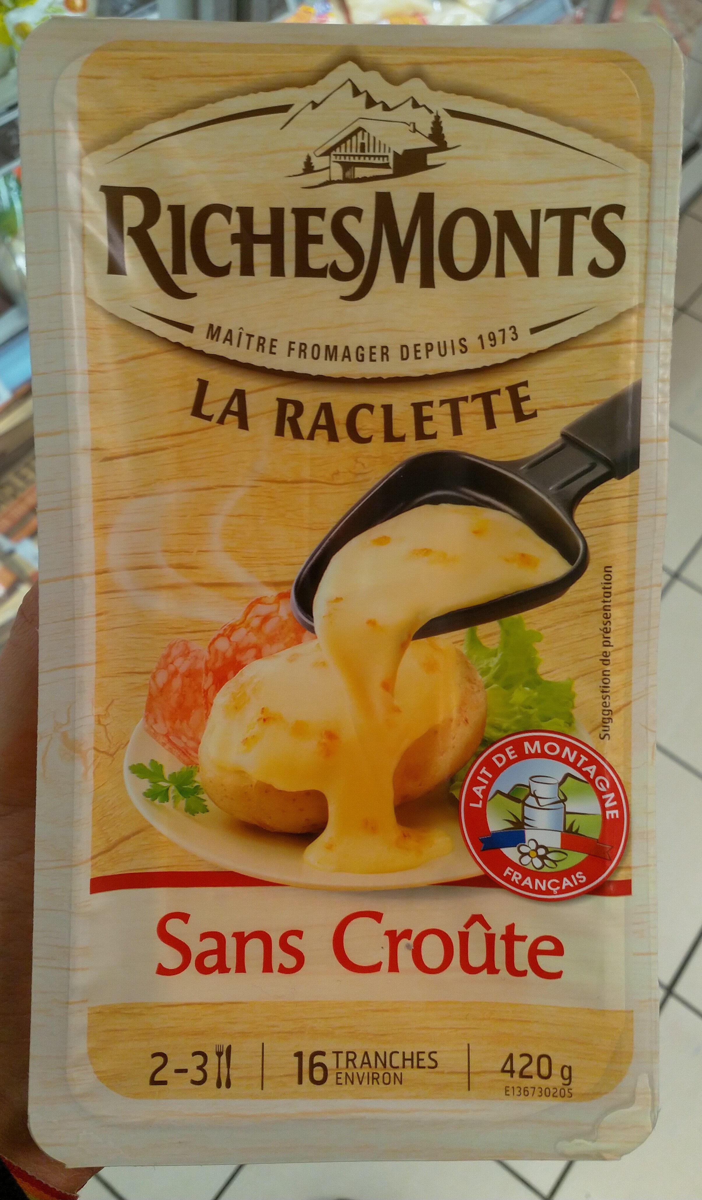 La raclette - sans croute, 16 tranches - Produit - fr