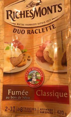 Fromage à raclette Classique/fumée au bois de hêtre - Produkt - fr