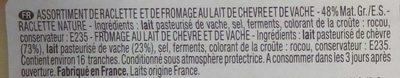 Idées Raclette classique & chèvre (+10 % gratuit) - Ingrédients