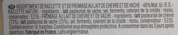 Idées Raclette classique & chèvre (+10 % gratuit) - Ingrédients - fr