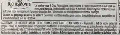 Idees Raclette - Ingrédients