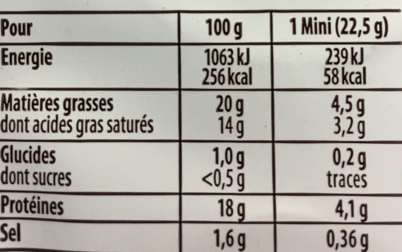 4 minis à dorer - Nutrition facts - fr